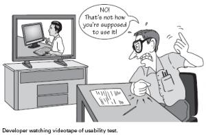 usability test cartoon