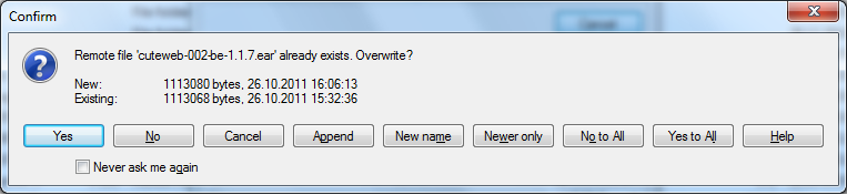 error message